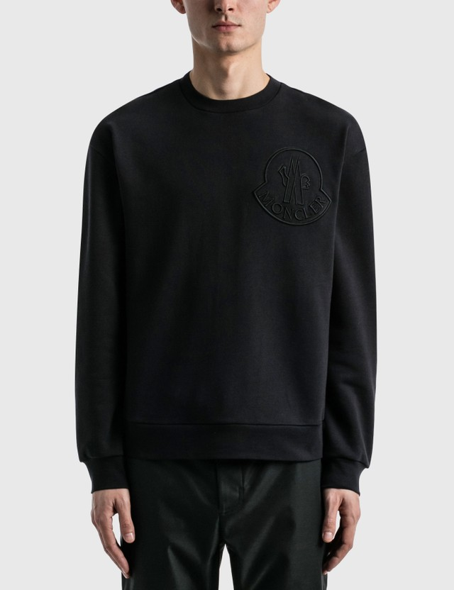 Moncler Logo Sweatshirt Navy Men