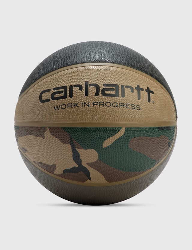 Carhartt Work In Progress Carhartt WIP X Spalding Valiant 4 Basketball Camo Laurel, Black, Air Force Grey, Leather Unisex