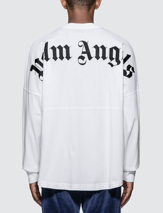 Palm Angels Logo Over Long Sleeve T-shirt