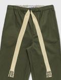 Loewe Drawstring Trousers Military Green Men