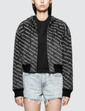 Alexander Wang.T Logo Print Hooded Bomber Jacket Picture