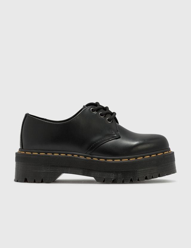Dr. Martens 1461 Quad Smooth Leather Derby Black Polished Smooth Women