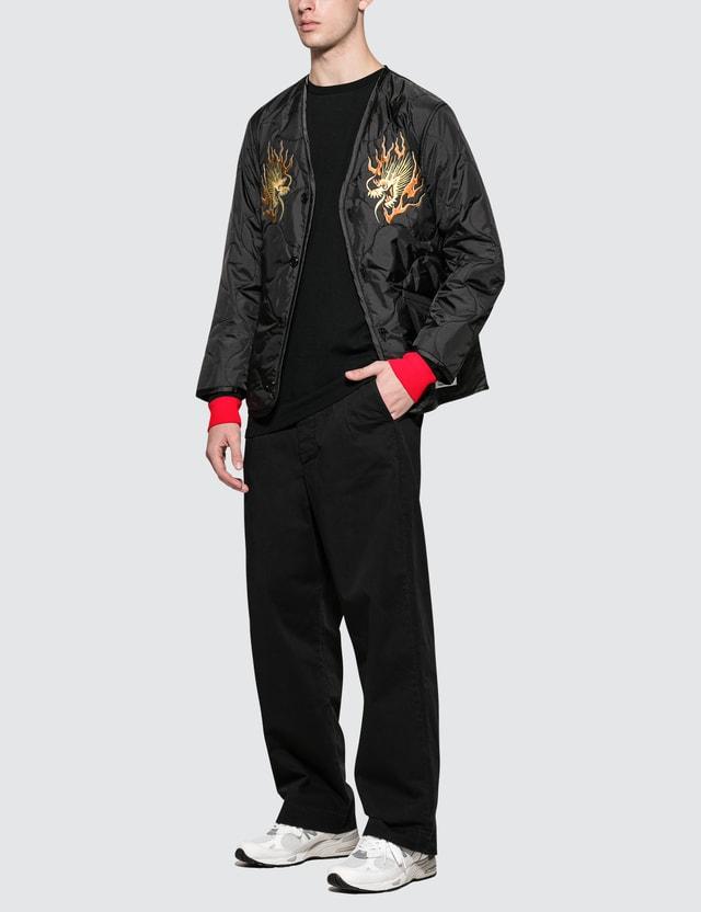 SOPHNET. L/S  Scorpion Color Rib T-Shirt