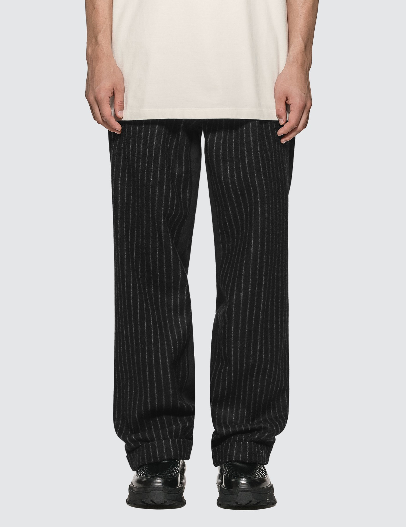 Virgin Wool Stripes Pants