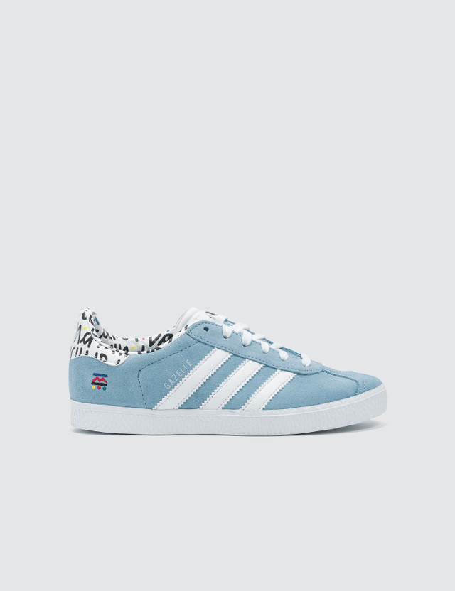Adidas Originals Gazelle Children Clear Blue/hite/clear Blue Kids