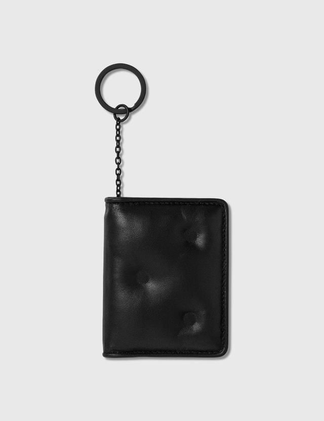 Maison Margiela 글램 슬램 카드홀더 위드 키 링 T8013 Black Men