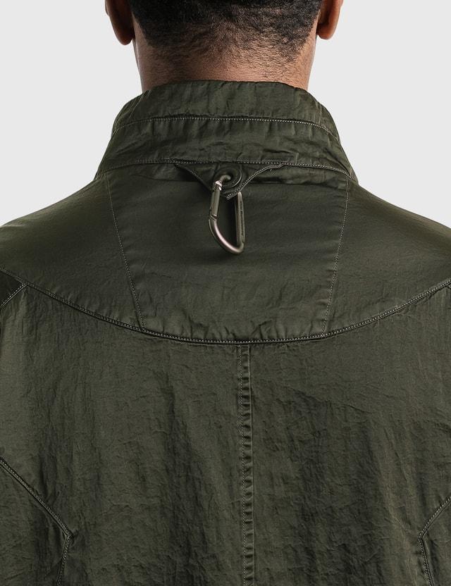 White Mountaineering Shrinked Contrasted Jacket Khaki Men