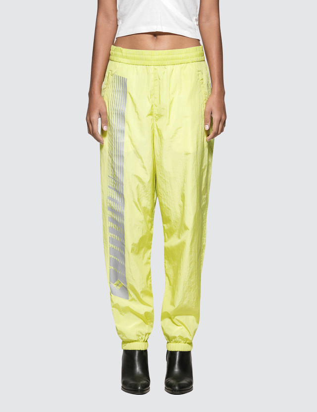 Alexander Wang.T Washed Nylon Pant With Reflective Print Detail Lime Women
