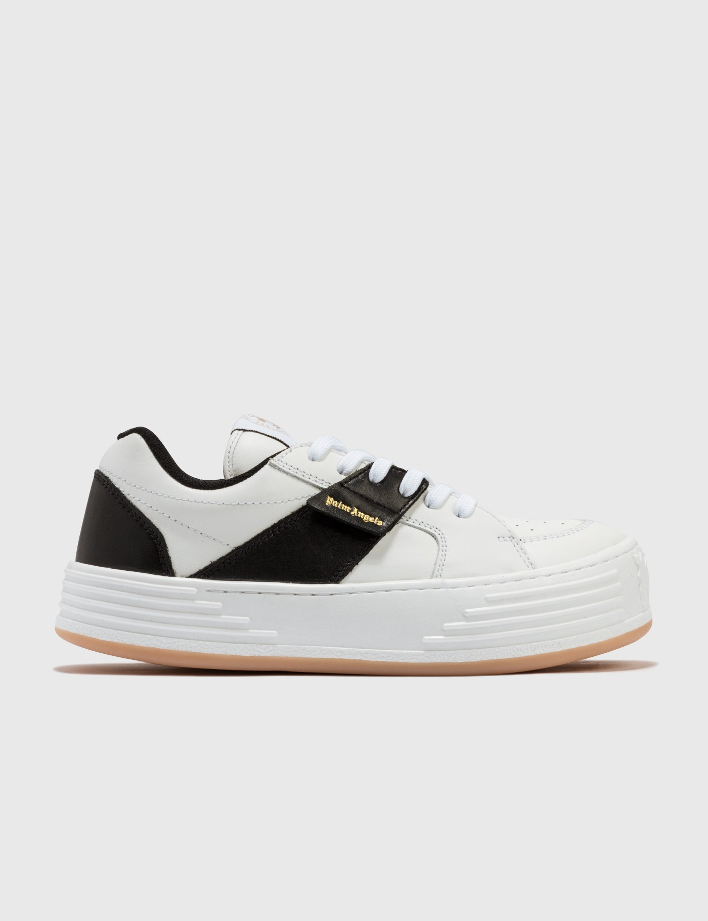 Palm Angels Leathers LEATHER SNOW LOW TOP SNEAKERS