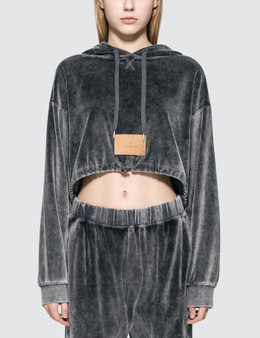 Alexander Wang.T Velour Terry Cropped Hoodie