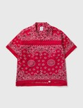 """Bedwin & The Heartbreakers """"Monk"""" Patch Worked Bandana Shirt Picture"""