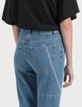 MM6 Maison Margiela Laser Print Jeans Medium Cast With Laser Women