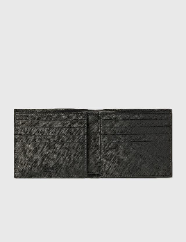 Prada Logo Wallet Nero+baltico Men