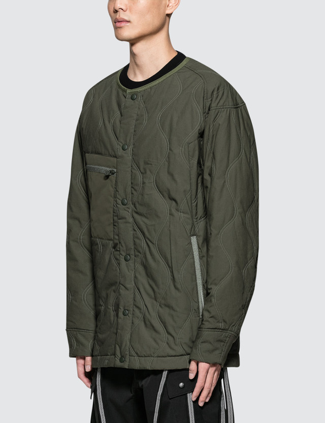 White Mountaineering Primaloft Quilted No Collar Jacket