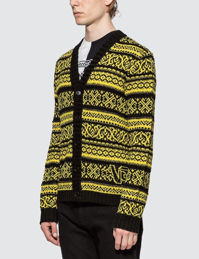 Versace Intarsia Knit Cardigan