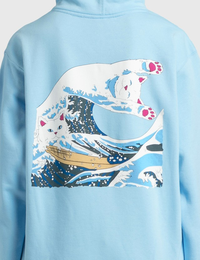 RIPNDIP Great Wave Hoodie Blue Women