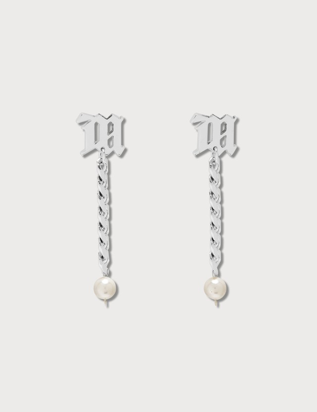 Misbhv The M Curb Link Earrings