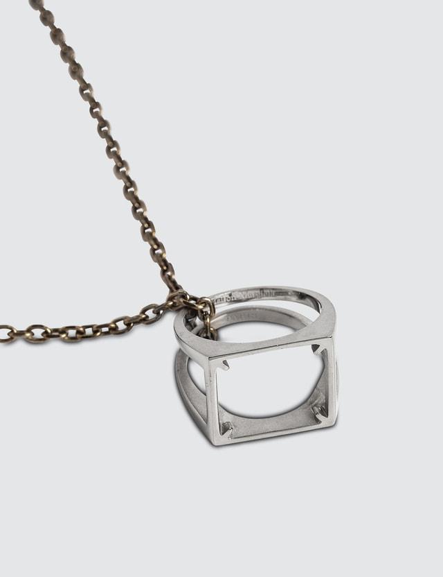 Maison Margiela Décortiqué Pendant Silver Necklace