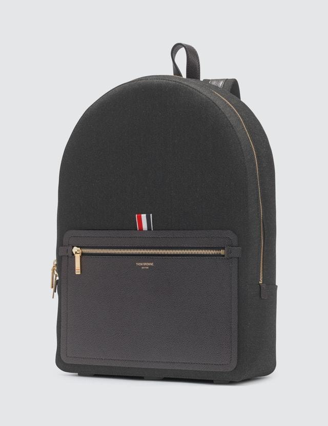 Thom Browne Leather Pocket Backpack