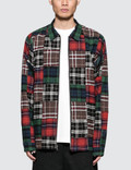 Stussy Patchwork Zip Up L/S Shirt Picture