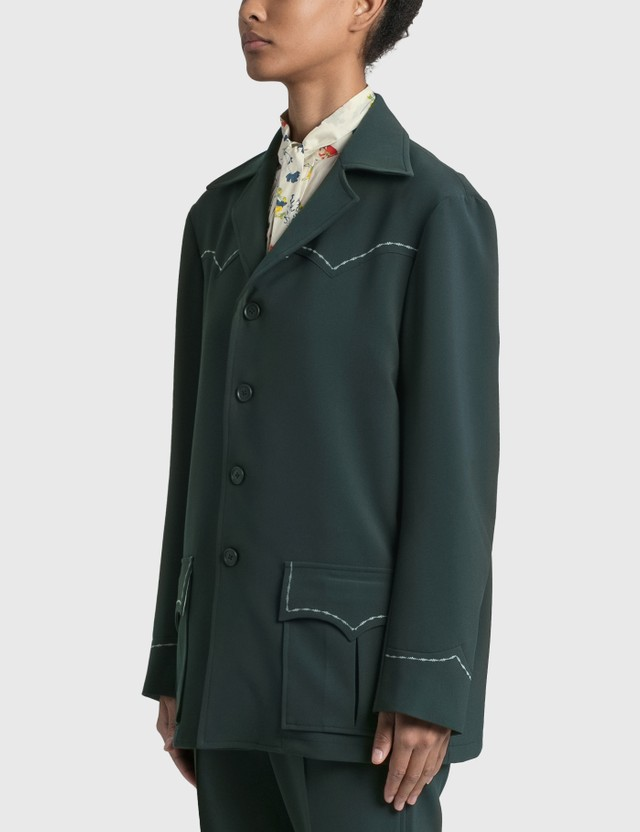 Needles Western Leisure Jacket Green Women