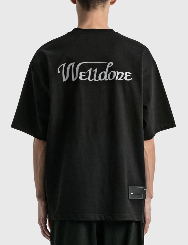 We11done We11done Reflective Logo T-Shirt Black Men
