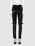 Danielle Guizio Patent Zip Pants Picutre