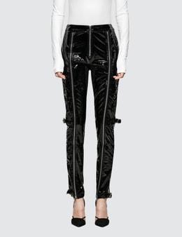 Danielle Guizio Patent Zip Pants