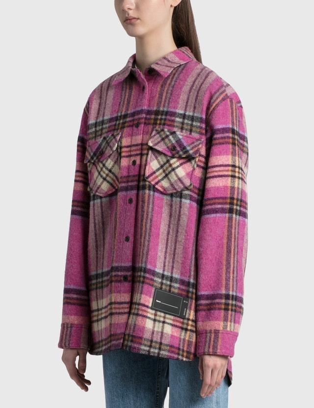 We11done Check Wool Shirt Pink Women