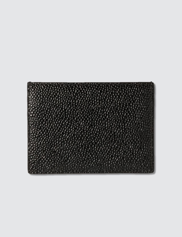 Thom Browne Card Holder In Pebble Grain