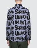 uniform experiment Patterned All Over Graffiti B.D Shirt