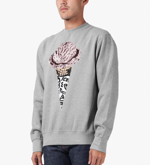 Icecream Heather Grey Lux Cone Crewneck Sweater