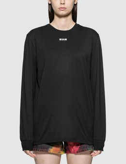 MSGM Small Logo Long Sleeve T-shirt