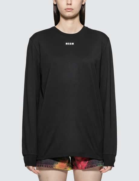 MSGM 티셔츠 Small Logo Long Sleeve T-shirt