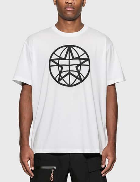 버버리 Burberry Globe Graphic Cotton Oversized T-Shirt