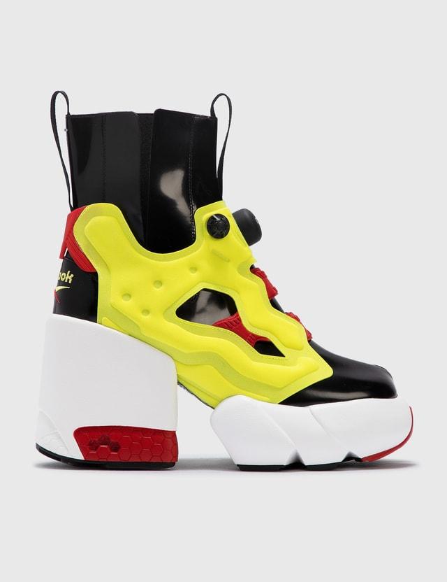 Maison Margiela Maison Margiela x Reebok Tabi Instapump Ankle Boots Black/yellow Women