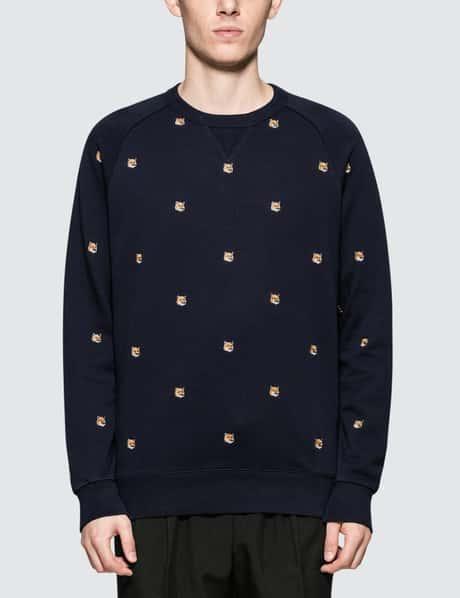 메종 키츠네 Maison Kitsune Fox Head Patch Embroidery Sweatshirt