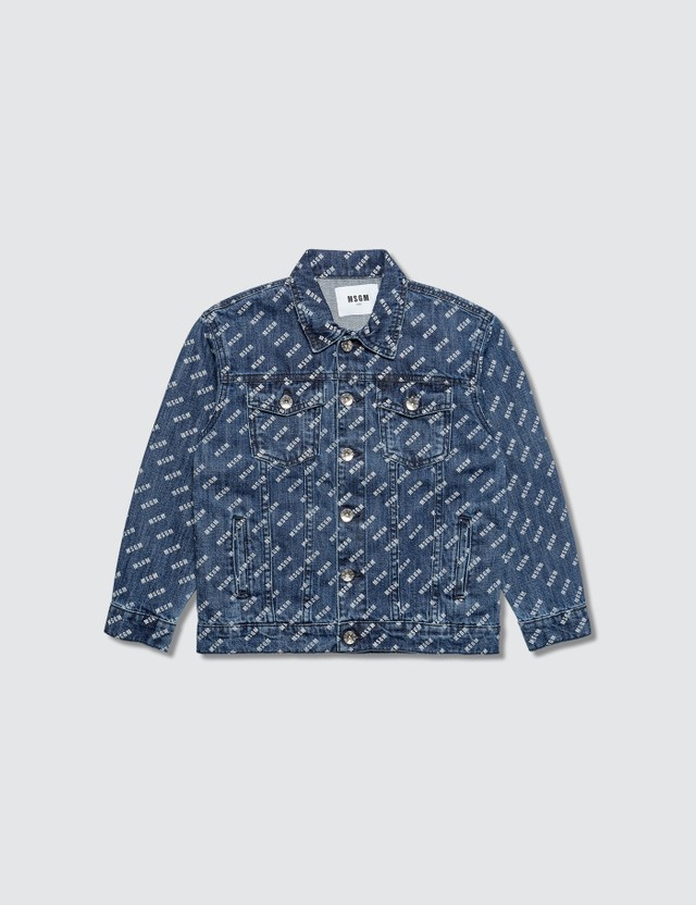MSGM Monogram Denim Jacket