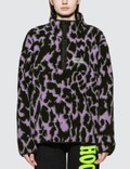 Ashley Williams Juju Animal Print Fleece Pullover Jacket