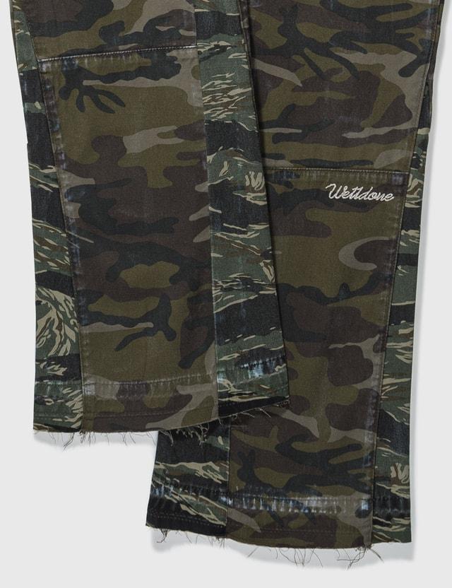We11done Camouflage Cargo Pants Khaki Men