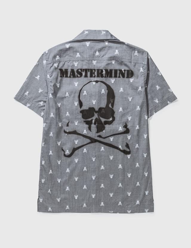 Mastermind Japan Mastermind Japan Big Skull Print Short Shirt Grey Archives