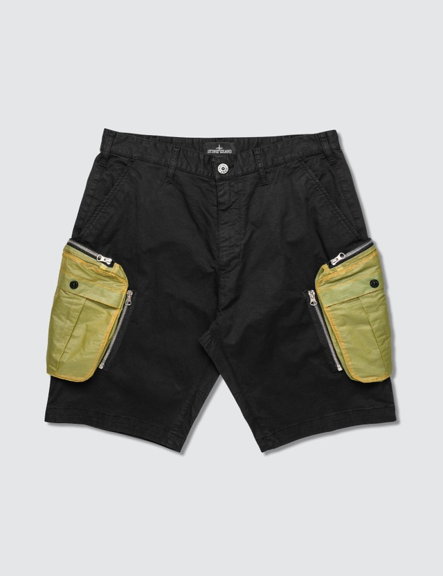 Stone Island Shadow Project Cargo Shorts Nero Men