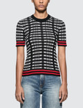 MSGM All Over Msgm Logo Sport Ribbed Knit Top Picutre