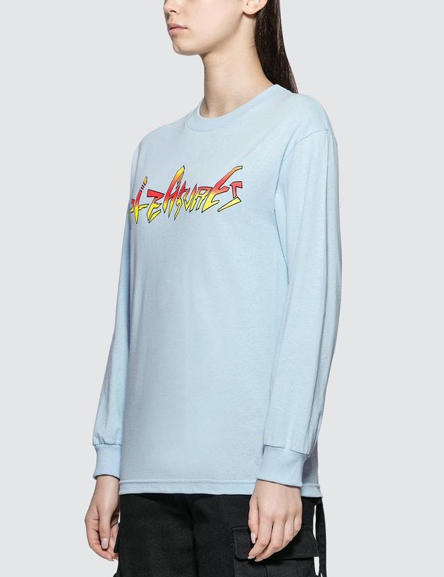 Pleasures Mary Long Sleeve T-shirt Blue Women