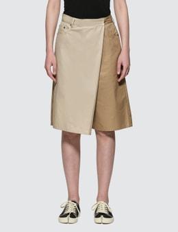 MM6 Maison Margiela Two-tone Overlay Twill Bermuda Shorts