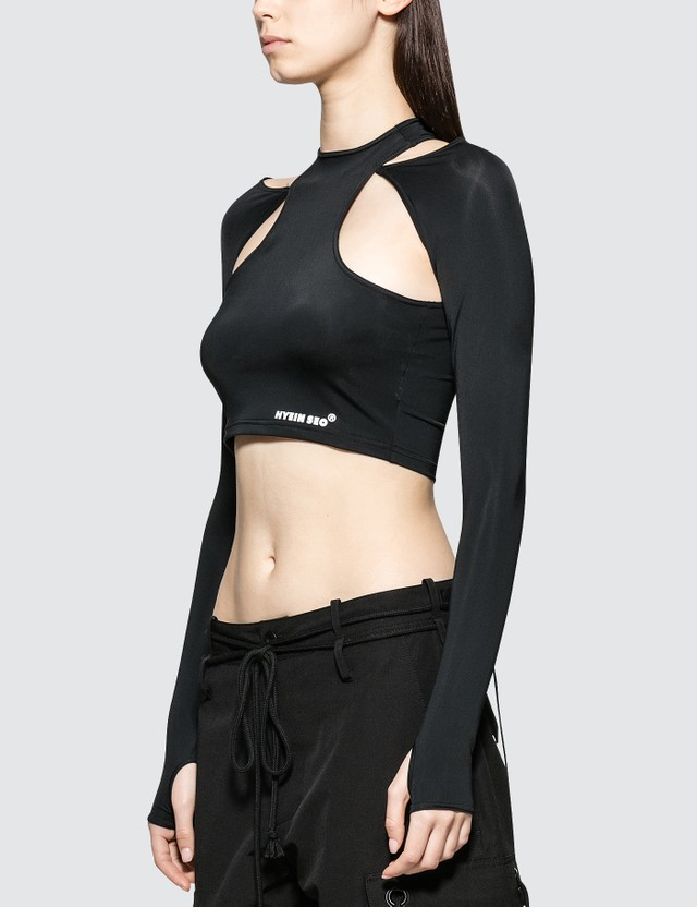 Hyein Seo Cut Off Jersey Top