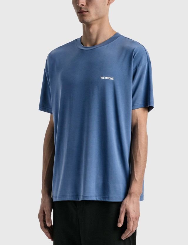 We11done We11done Oversized Jersey T-Shirt Blue Men