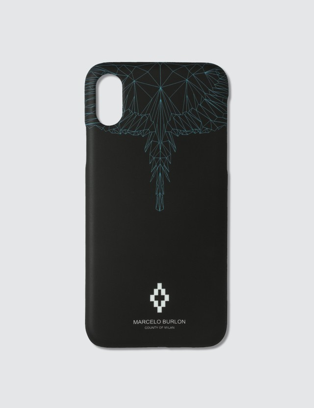 Marcelo Burlon Neon Wings iPhone X Case Multicolor Men
