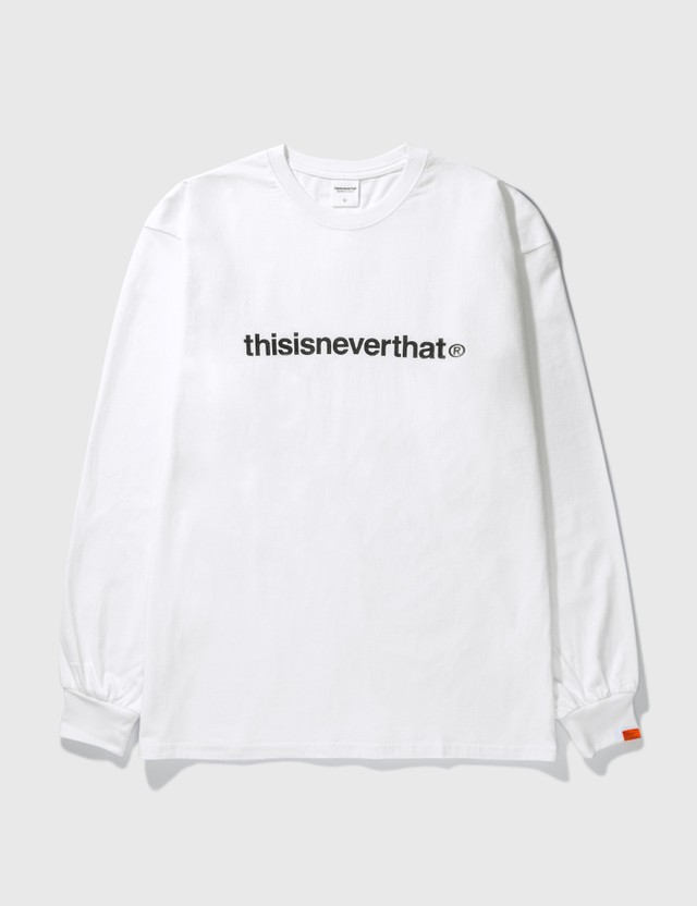 Thisisneverthat T-logo Long Sleeve T-Shirt White Men