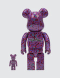 Medicom Toy Keith Haring Be@rbrick 100% + 400% Set (ver. 2)